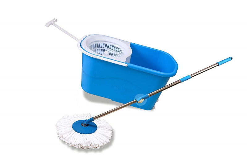 Paras Miracle Plastic Smart Spin Mop Blue Ms18